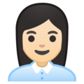 Woman Office Worker: Light Skin Tone on Google Android 10.0