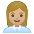 Woman Office Worker: Medium-Light Skin Tone on Google Android 10.0