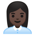 Woman Office Worker: Dark Skin Tone on Google Android 10.0