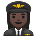 Woman Pilot: Dark Skin Tone on Google Android 10.0