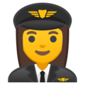 Woman Pilot on Google Android 10.0