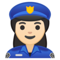 Woman Police Officer: Light Skin Tone on Google Android 10.0