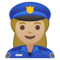 Woman Police Officer: Medium-Light Skin Tone on Google Android 10.0