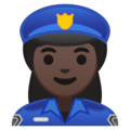 Woman Police Officer: Dark Skin Tone on Google Android 10.0