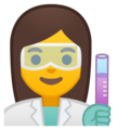 Woman Scientist on Google Android 10.0