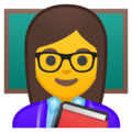 Woman Teacher on Google Android 10.0