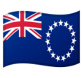 Flag: Cook Islands on Google Android 10.0