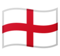 Flag: England on Google Android 10.0