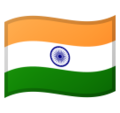 Flag: India on Google Android 10.0