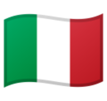 Flag: Italy on Google Android 10.0