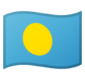 Flag: Palau on Google Android 10.0