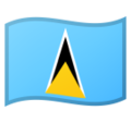Flag: St. Lucia on Google Android 10.0