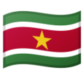 Flag: Suriname on Google Android 10.0