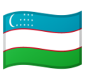 Flag: Uzbekistan on Google Android 10.0