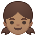 Girl: Medium Skin Tone on Google Android 10.0