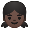 Girl: Dark Skin Tone on Google Android 10.0