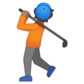 Person Golfing: Medium Skin Tone on Google Android 10.0