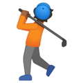 Person Golfing: Medium-Dark Skin Tone on Google Android 10.0