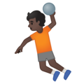 Person Playing Handball: Dark Skin Tone on Google Android 10.0