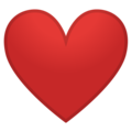 Red Heart on Google Android 10.0