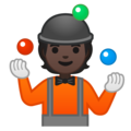 Person Juggling: Dark Skin Tone on Google Android 10.0