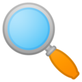 Magnifying Glass Tilted Left on Google Android 10.0