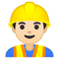 Man Construction Worker: Light Skin Tone on Google Android 10.0