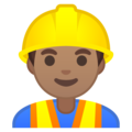 Man Construction Worker: Medium Skin Tone on Google Android 10.0