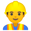 Man Construction Worker on Google Android 10.0