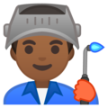 Man Factory Worker: Medium-Dark Skin Tone on Google Android 10.0