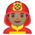 Man Firefighter: Medium Skin Tone on Google Android 10.0