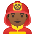 Man Firefighter: Medium-Dark Skin Tone on Google Android 10.0