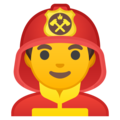 Man Firefighter on Google Android 10.0