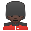 Man Guard: Dark Skin Tone on Google Android 10.0