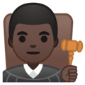 Man Judge: Dark Skin Tone on Google Android 10.0