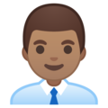 Man Office Worker: Medium Skin Tone on Google Android 10.0