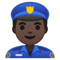 Man Police Officer: Dark Skin Tone on Google Android 10.0