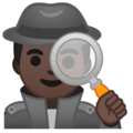 Man Detective: Dark Skin Tone on Google Android 10.0
