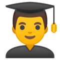 Man Student on Google Android 10.0