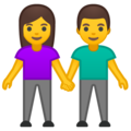 Woman and Man Holding Hands on Google Android 10.0