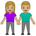 Woman and Man Holding Hands: Medium-Light Skin Tone on Google Android 10.0