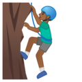 Man Climbing: Medium-Dark Skin Tone on Google Android 10.0