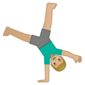 Man Cartwheeling: Medium-Light Skin Tone on Google Android 10.0
