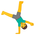Man Cartwheeling on Google Android 10.0