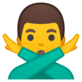 Man Gesturing No on Google Android 10.0