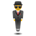 Man in Suit Levitating on Google Android 10.0