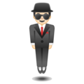 Man in Suit Levitating: Light Skin Tone on Google Android 10.0