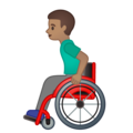 Man in Manual Wheelchair: Medium Skin Tone on Google Android 10.0