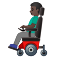 Man in Motorized Wheelchair: Dark Skin Tone on Google Android 10.0