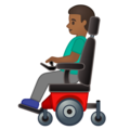 Man in Motorized Wheelchair: Medium-Dark Skin Tone on Google Android 10.0